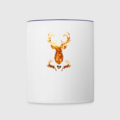 antler deer christmas xmas glamour gold swagg rich - Contrast Coffee Mug