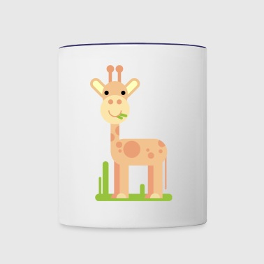 Cute giraffe gift present idea - Contrast Coffee Mug