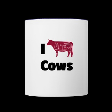 cows - Contrast Coffee Mug