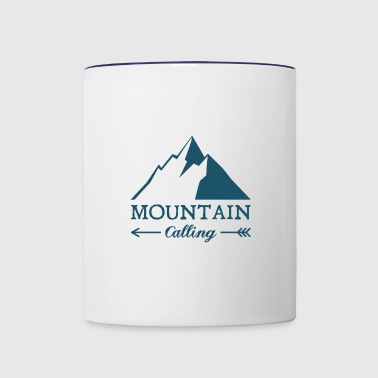 The Mountains Are Calling - Contrast Coffee Mug
