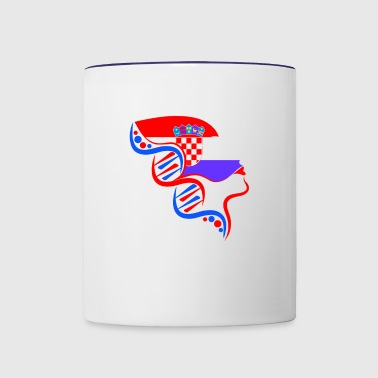 Croatia Its In My DNA - Contrast Coffee Mug