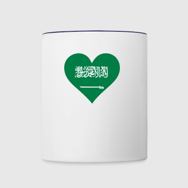 A Heart For Saudi Arabia - Contrast Coffee Mug