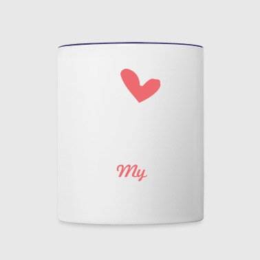 I love my Boyfriend - Contrast Coffee Mug