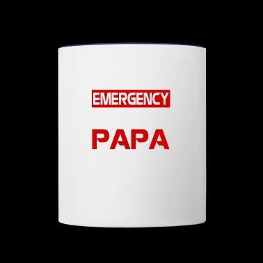 In case of emergency call papa shirts - Contrast Coffee Mug