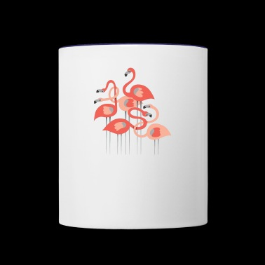 Flamingos Group - Contrast Coffee Mug
