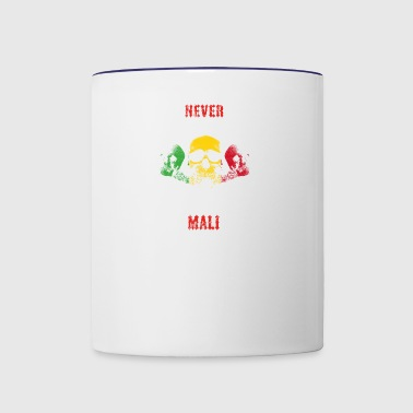 never underestimate man MALI - Contrast Coffee Mug