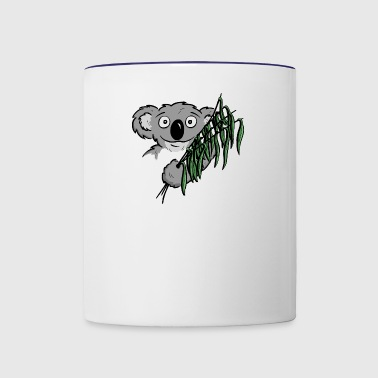 cute little koala bear with eucalyptus as a gift - Contrast Coffee Mug