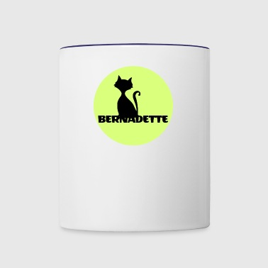 Bernadette name first name - Contrast Coffee Mug