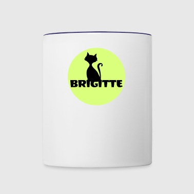 Brigitte name first name - Contrast Coffee Mug