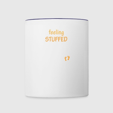 feeling stuffed - Contrast Coffee Mug