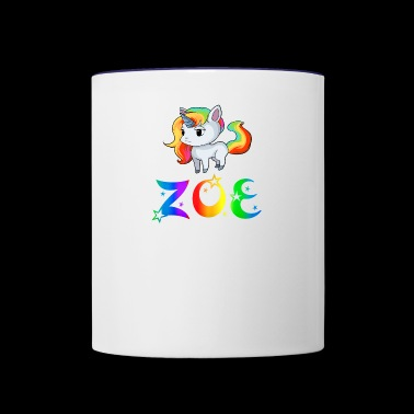 Zoe Unicorn - Contrast Coffee Mug