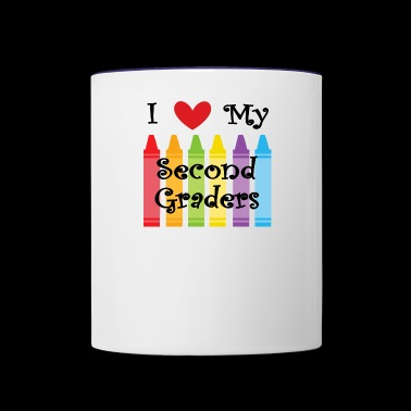 second grade teacher2 - Contrast Coffee Mug