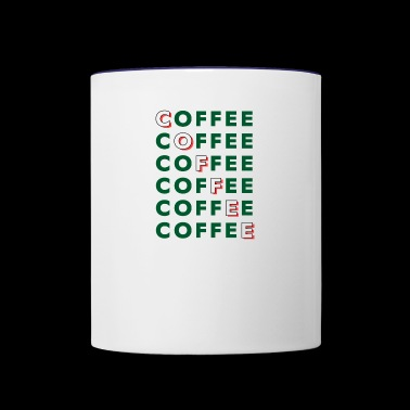 coffee repeated - Contrast Coffee Mug