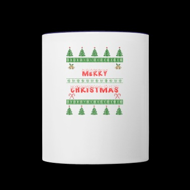 Merry Christmas Ugly Sweater Gift xmas Santa Claus - Contrast Coffee Mug