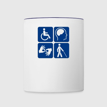 Disability symbols 16 vectorized - Contrast Coffee Mug
