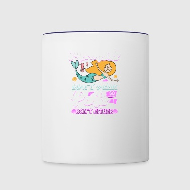 Mermaid Woman Pants Skirt present - Contrast Coffee Mug