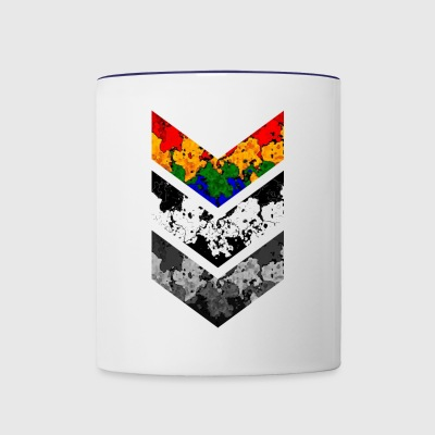 CHEVRON IN THREE SHADE - Contrast Coffee Mug