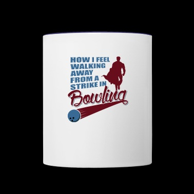 How I feel walking away from a strike in bowling - Contrast Coffee Mug