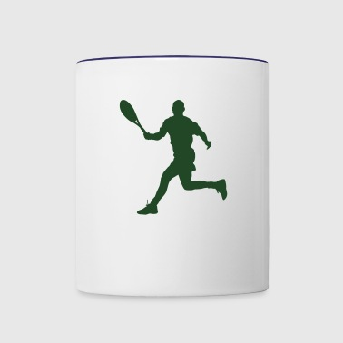 Tennis player silhouette 4 - Contrast Coffee Mug