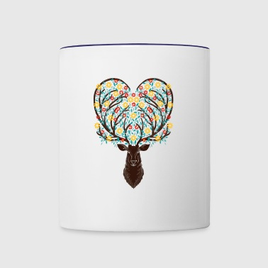 Blooming Deer - Contrast Coffee Mug
