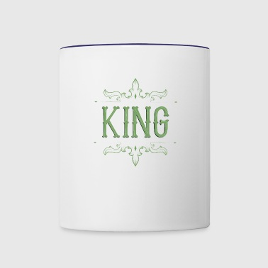 King. Prince. Partner. Queen. Love. Lettering - Contrast Coffee Mug
