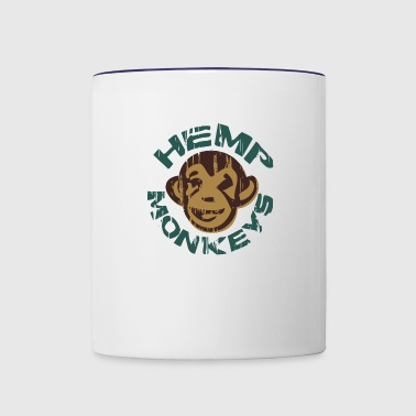 Hemp monkeys - Contrast Coffee Mug