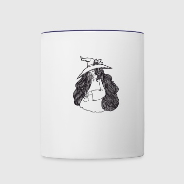 cute witch preparing a potion - Contrast Coffee Mug