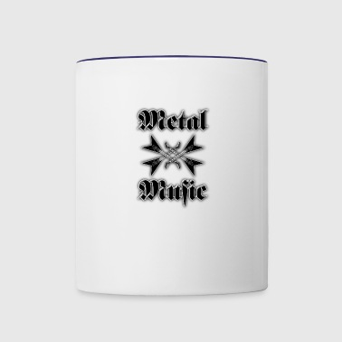 metal music guitars - Contrast Coffee Mug
