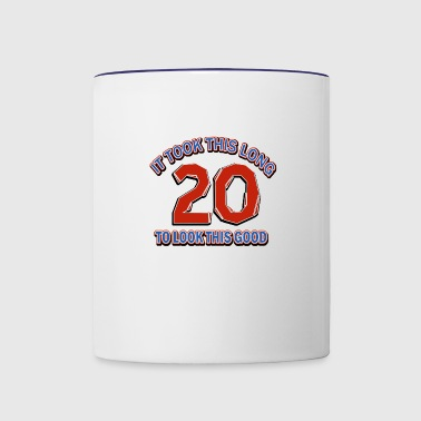 20th birthday design - Contrast Coffee Mug