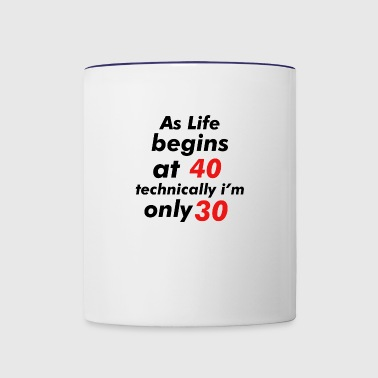 30th birthday design - Contrast Coffee Mug