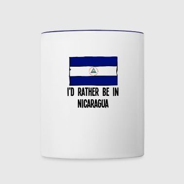 I'd Rather Be In Nicaragua - Contrast Coffee Mug