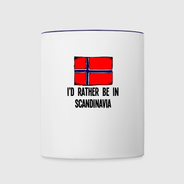 I'd Rather Be In Scandinavia - Contrast Coffee Mug