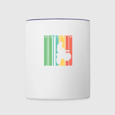 Vintage Dirt Biking Graphic - Contrast Coffee Mug