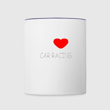 I LOVE CAR RACING - Contrast Coffee Mug