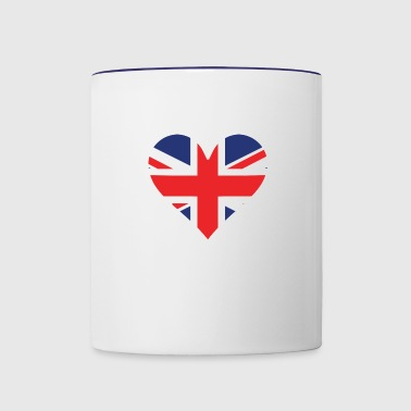 British Flag Heart - Contrast Coffee Mug