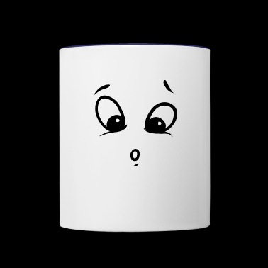 surprised - Contrast Coffee Mug