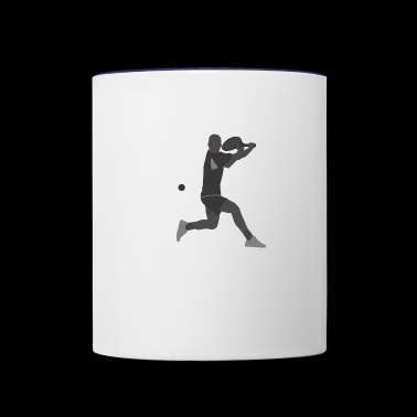Tennis Player - Contrast Coffee Mug