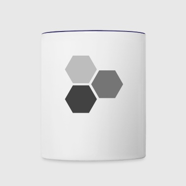 Hexagons - Contrast Coffee Mug