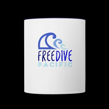 Freedive pacific - Contrast Coffee Mug