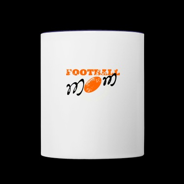 Football mom, American football - Contrast Coffee Mug