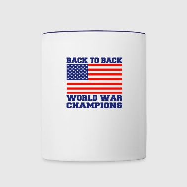 back to back world champions - Contrast Coffee Mug