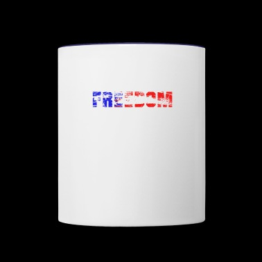 Freedom, American Freedom, Freedom is the best - Contrast Coffee Mug