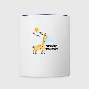 How is weather? - Contrast Coffee Mug