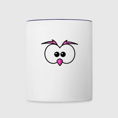 Eyes with beak and eyebrows pink - Contrast Coffee Mug