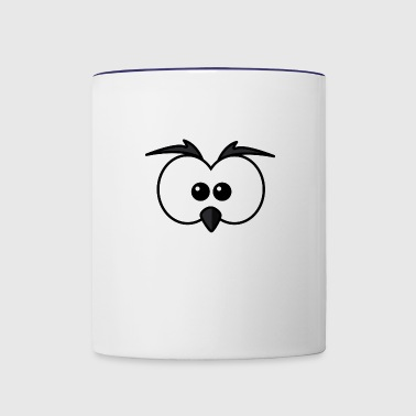Eyes with beak and eyebrows black - Contrast Coffee Mug