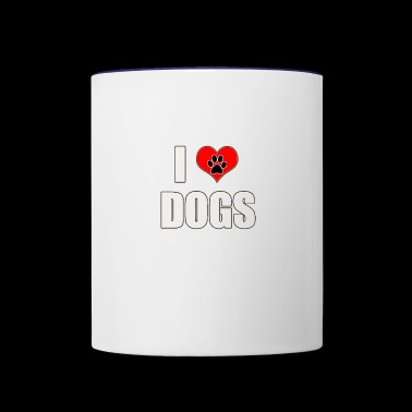 I heart dogs - Contrast Coffee Mug