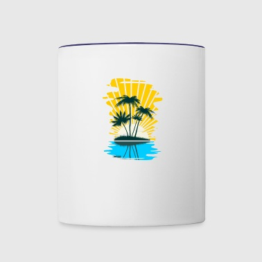 Palm Trees - Contrast Coffee Mug