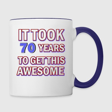 70 birthday design - Contrast Coffee Mug
