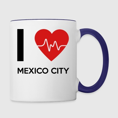 I Love Mexico City - Contrast Coffee Mug