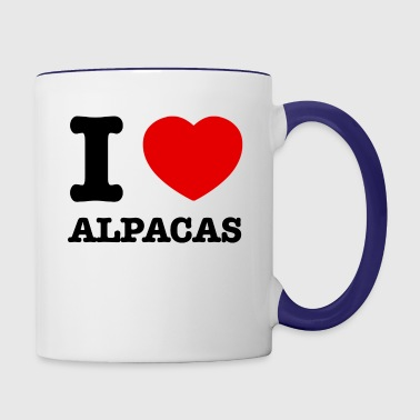 alpacas design - Contrast Coffee Mug